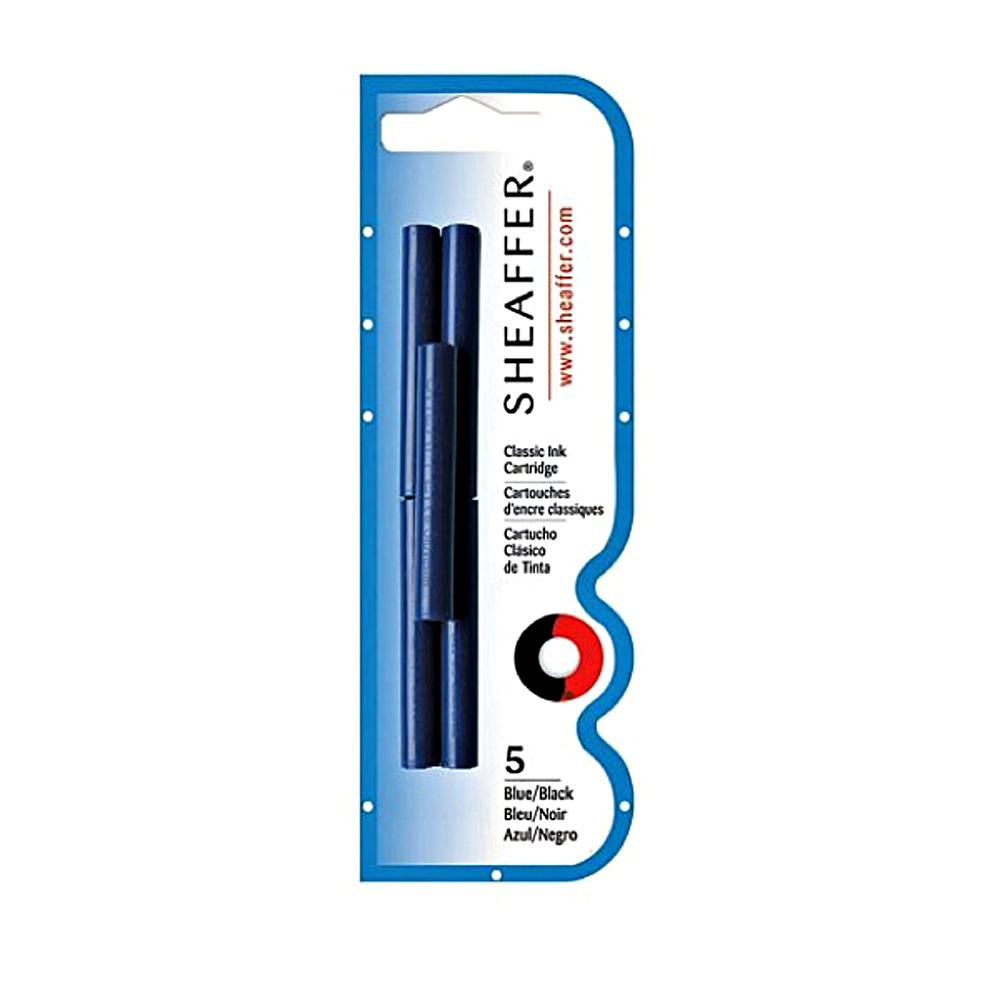 Sheaffer Skrip 5 Ink Cartridges Blue/Black