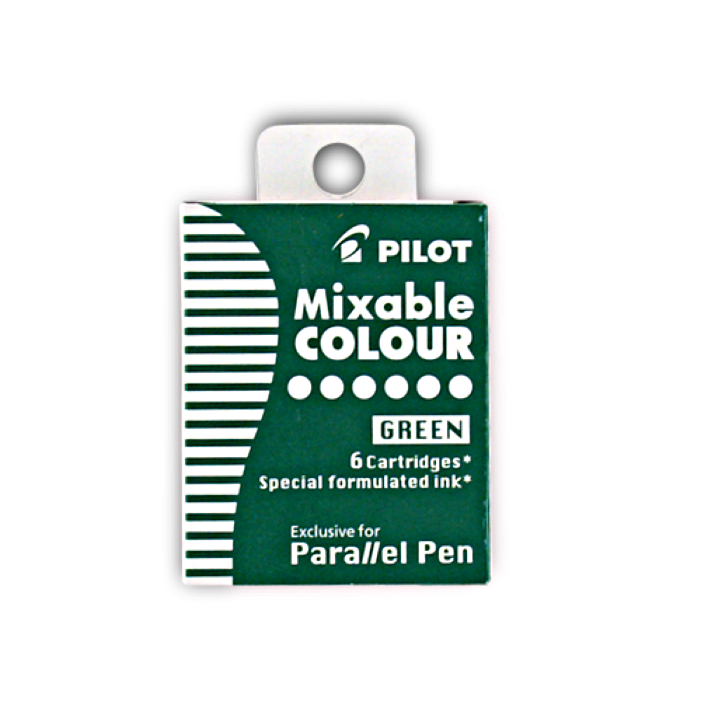 Pilot Parallel Pen Refill Green 6 Pack