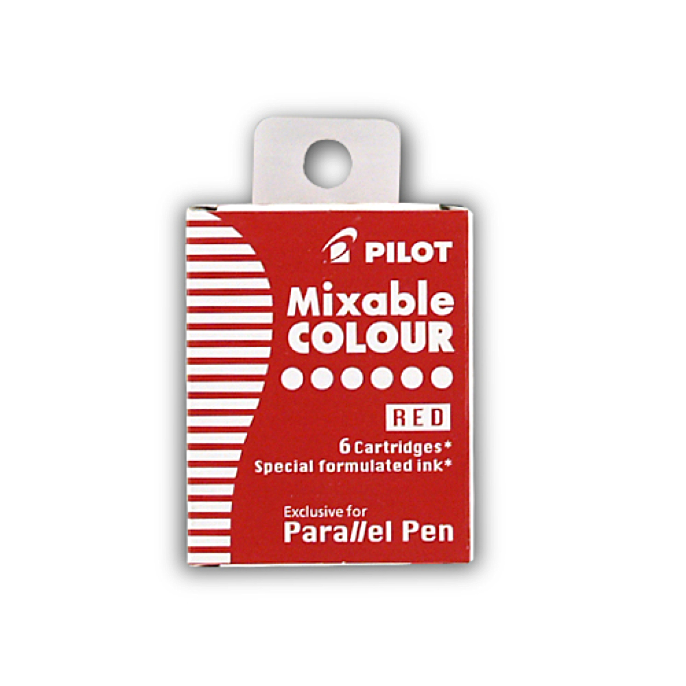 Pilot Parallel Pen Refill Red 6 Pack
