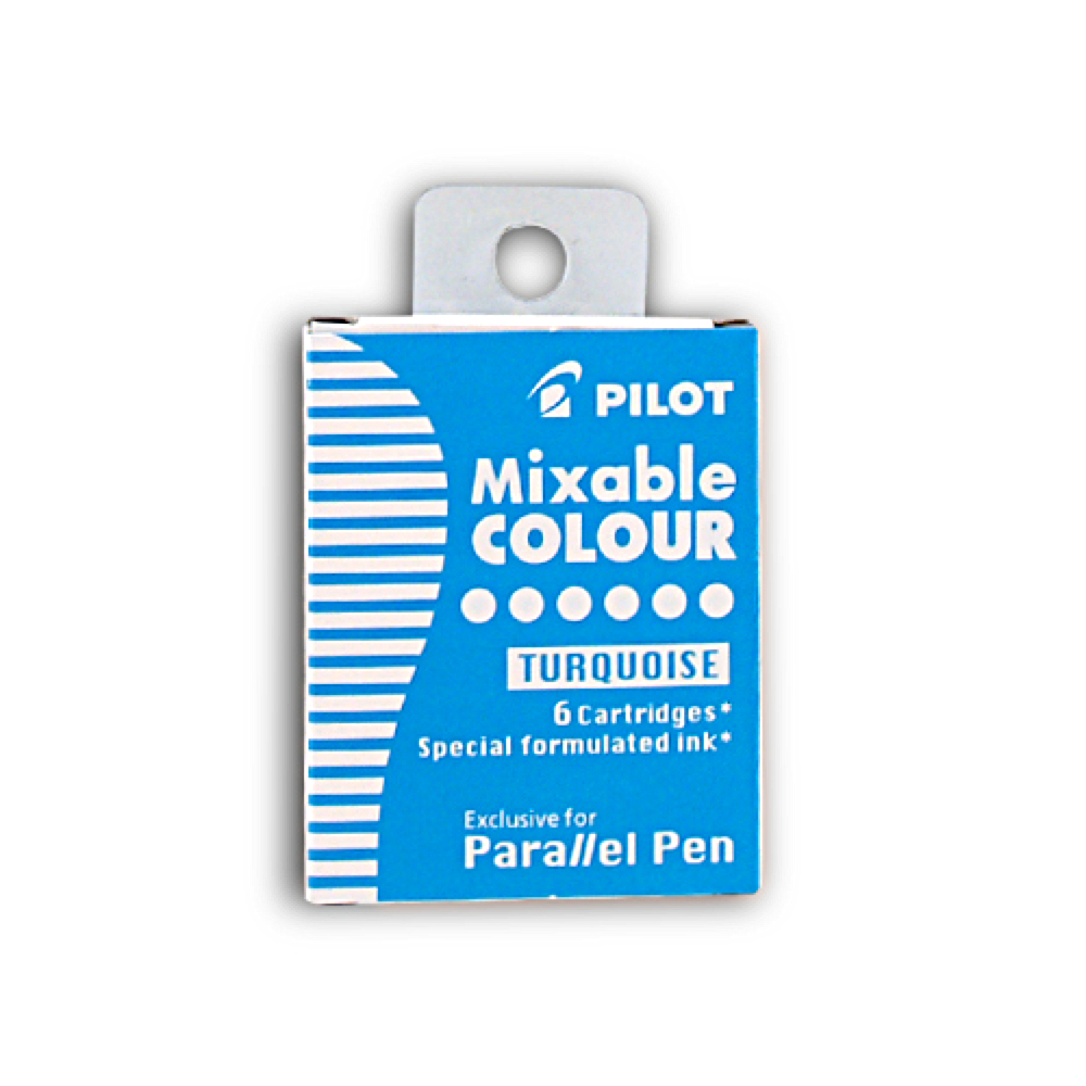 Pilot Parallel Pen Refill Turquoise 6 Pack