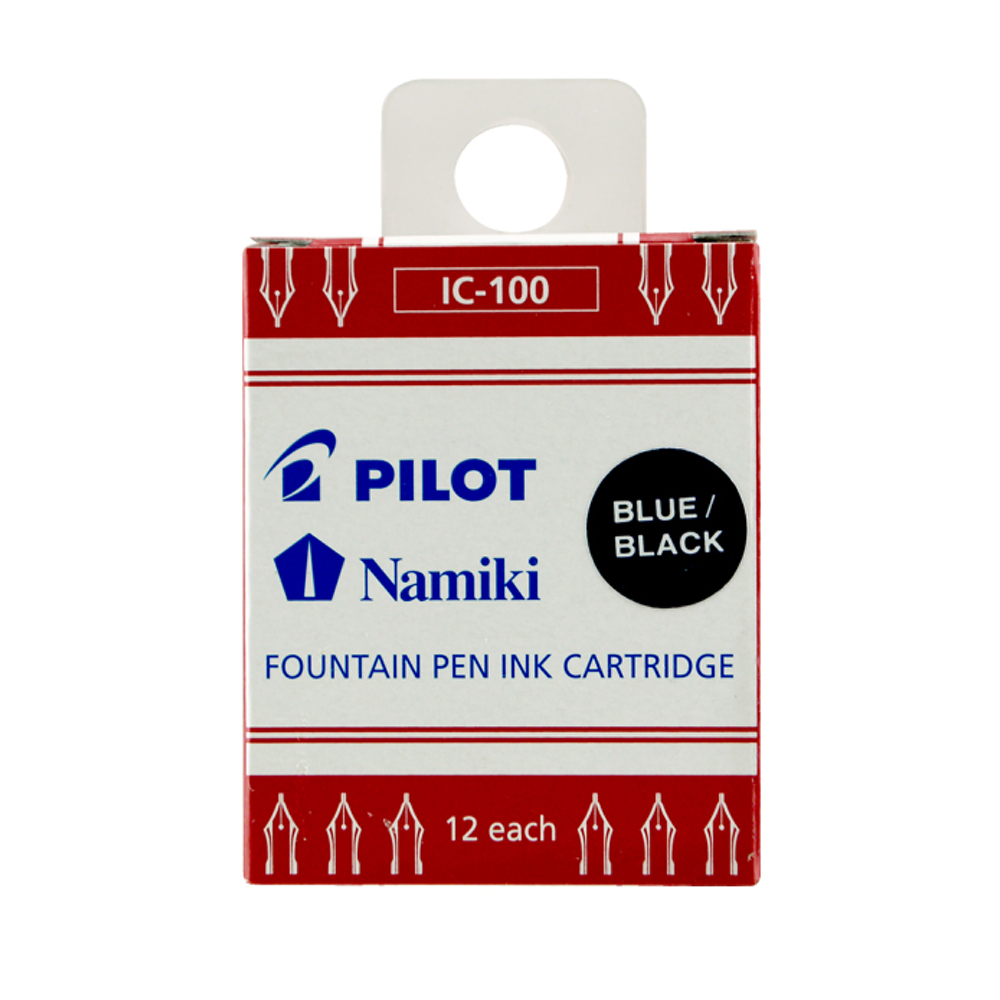 Pilot Namiki Ink Refill Blue/Black 12Pk
