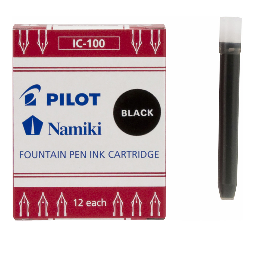 Pilot Namiki Ink Refill Cartridge Black 12Pk