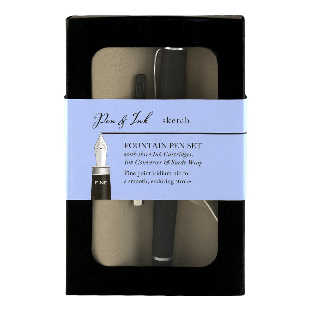 Pen & Ink Sketch Fountain Pen Set X-Fine