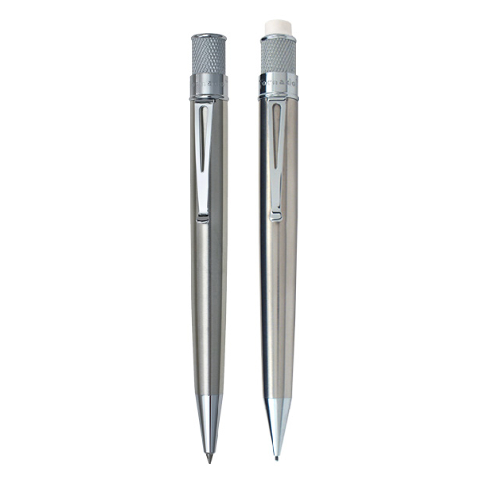 Tornado Pen & Pencil Set Stainless