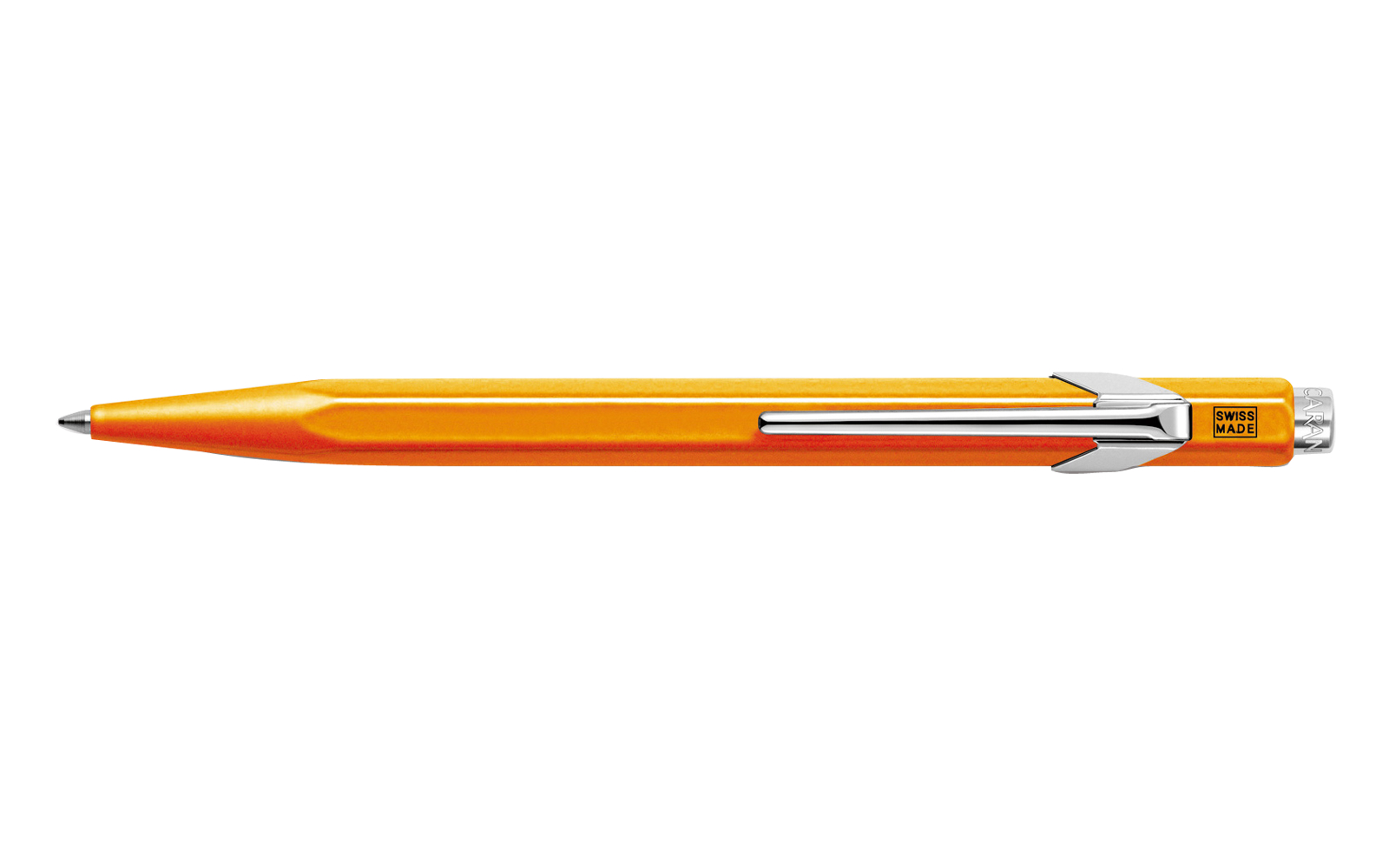 Caran D'ache Ballpoint Pen Metal Fluor Orange