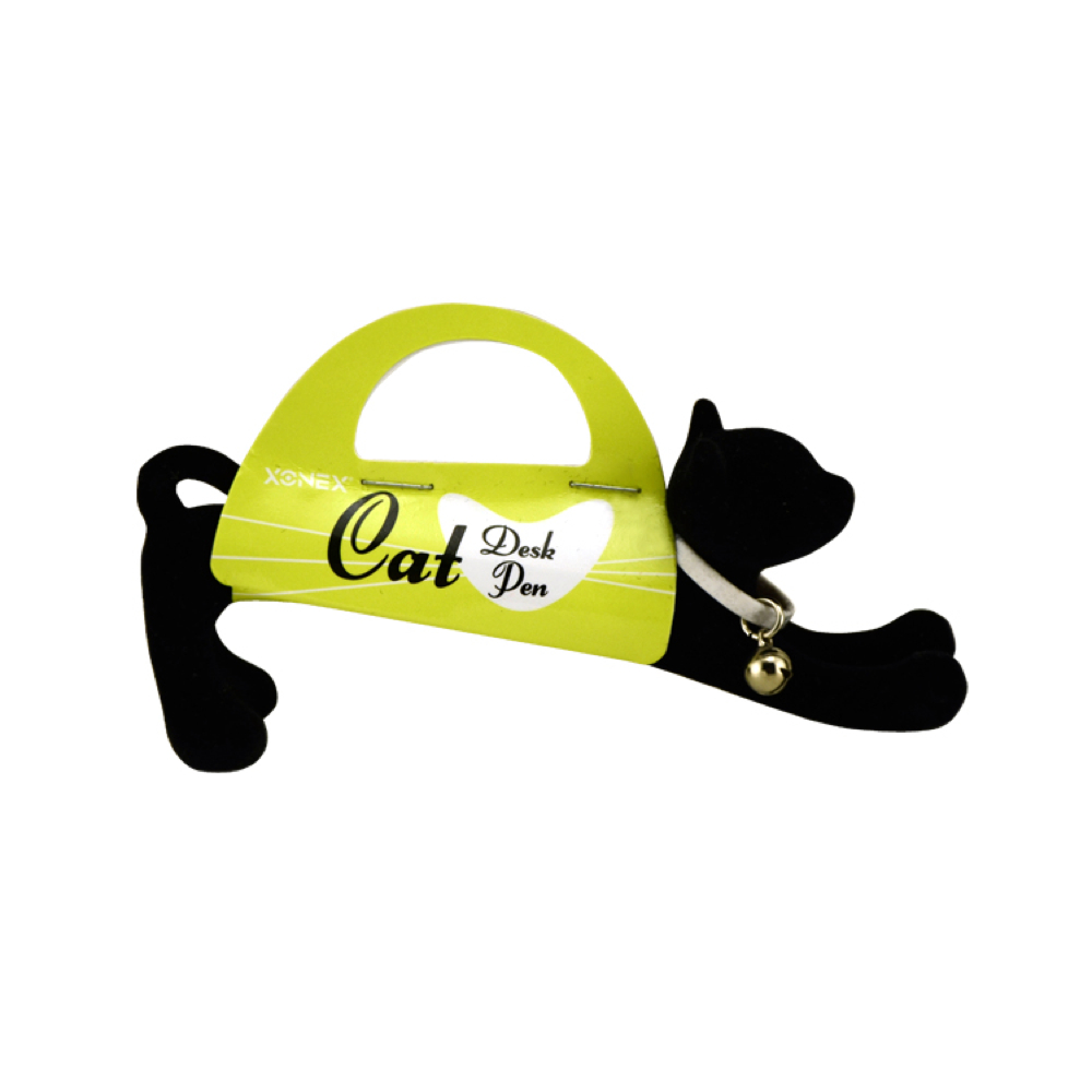 Cat Desk Pen Flocked Black
