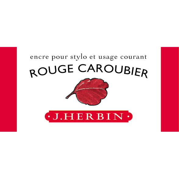 J. Herbin Fountn Pen Ink 30Ml Rouge Caroubier