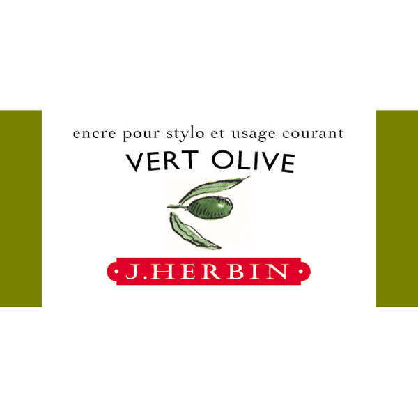 J. Herbin Fountain Pen Ink 30Ml Vert Olive