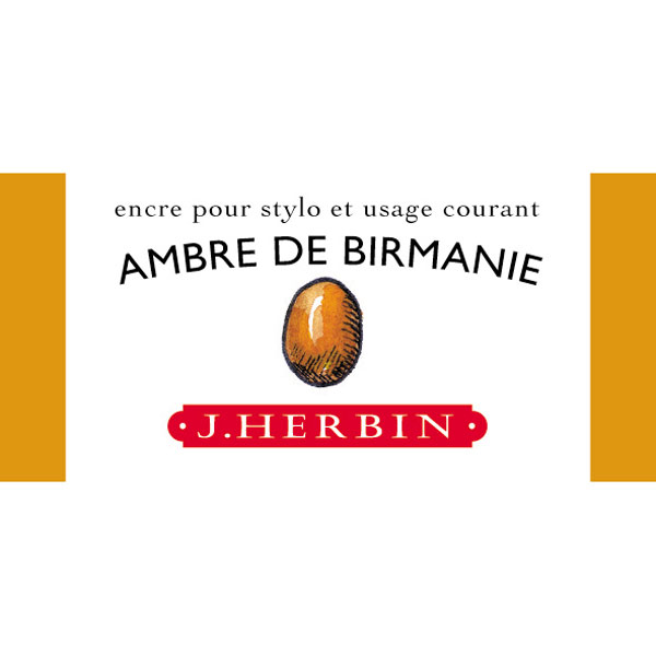 J. Herbin Fountn Pen Ink 30Ml Ambre Birmanie