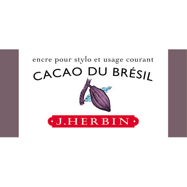 J. Herbin Fountn Pen Ink 30Ml Cacao Du Bresil