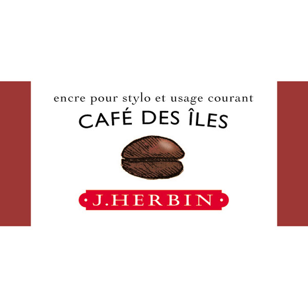 J. Herbin Fountain Pen Ink 30Ml Cafe Des Iles