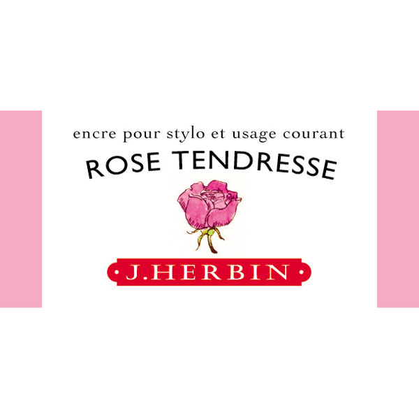 J. Herbin Fountn Pen Ink 30Ml Rose Tendresse