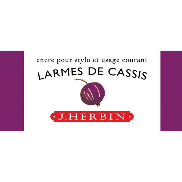 J. Herbin Fountn Pen Ink 10Ml Larme De Cassis