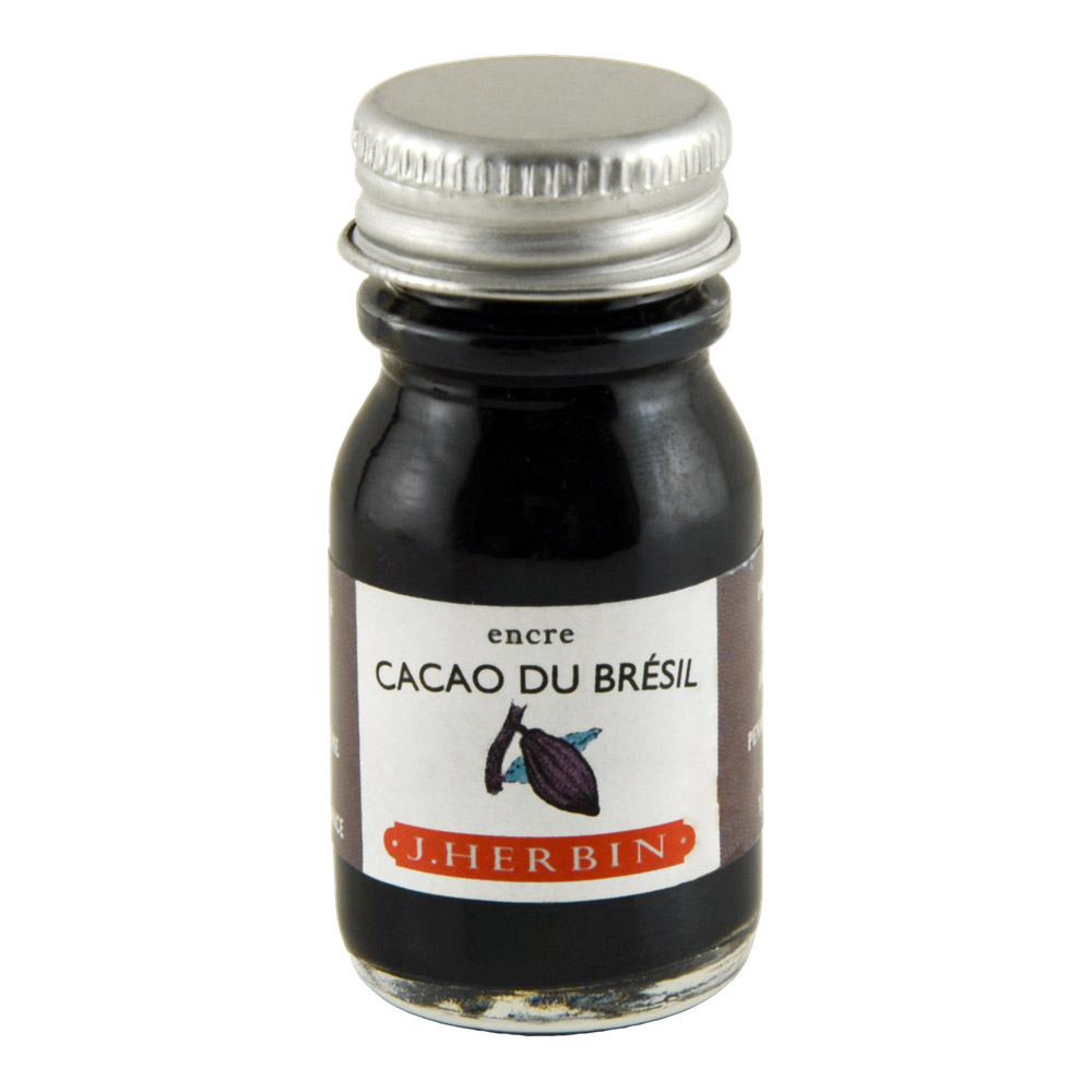 J. Herbin Fountn Pen Ink 10Ml Cacao Du Bresil