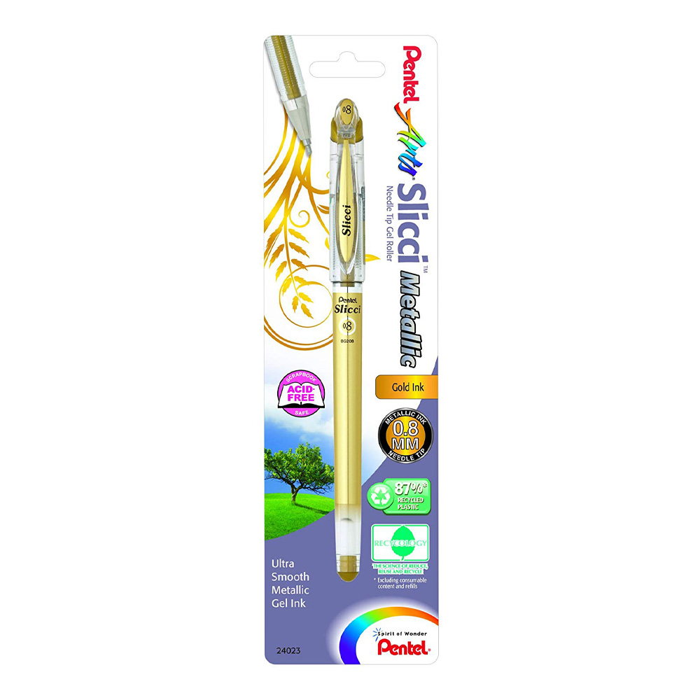 Pentel Slicci Metallic Gel Pen Gold