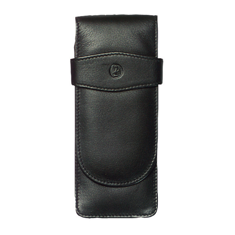 Pelikan Leather Triple Pen Case Black