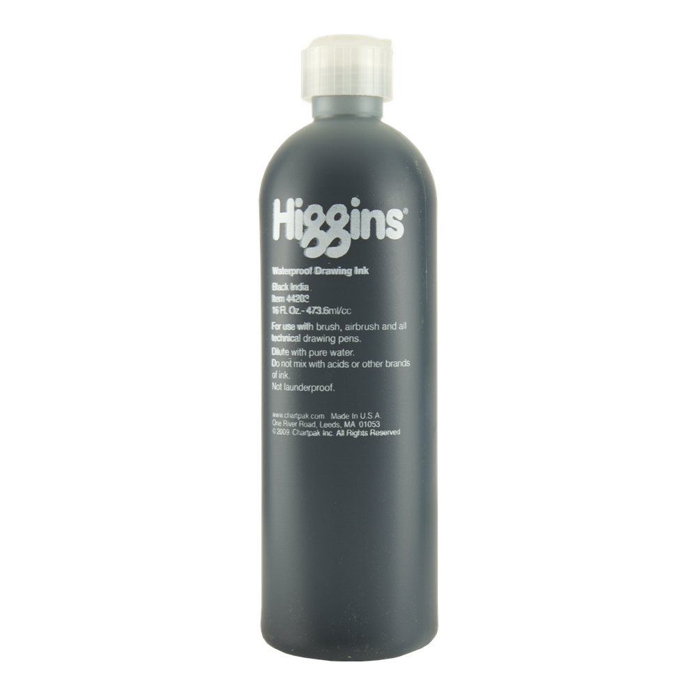 Higgins India Ink 4417 Black 16 Oz