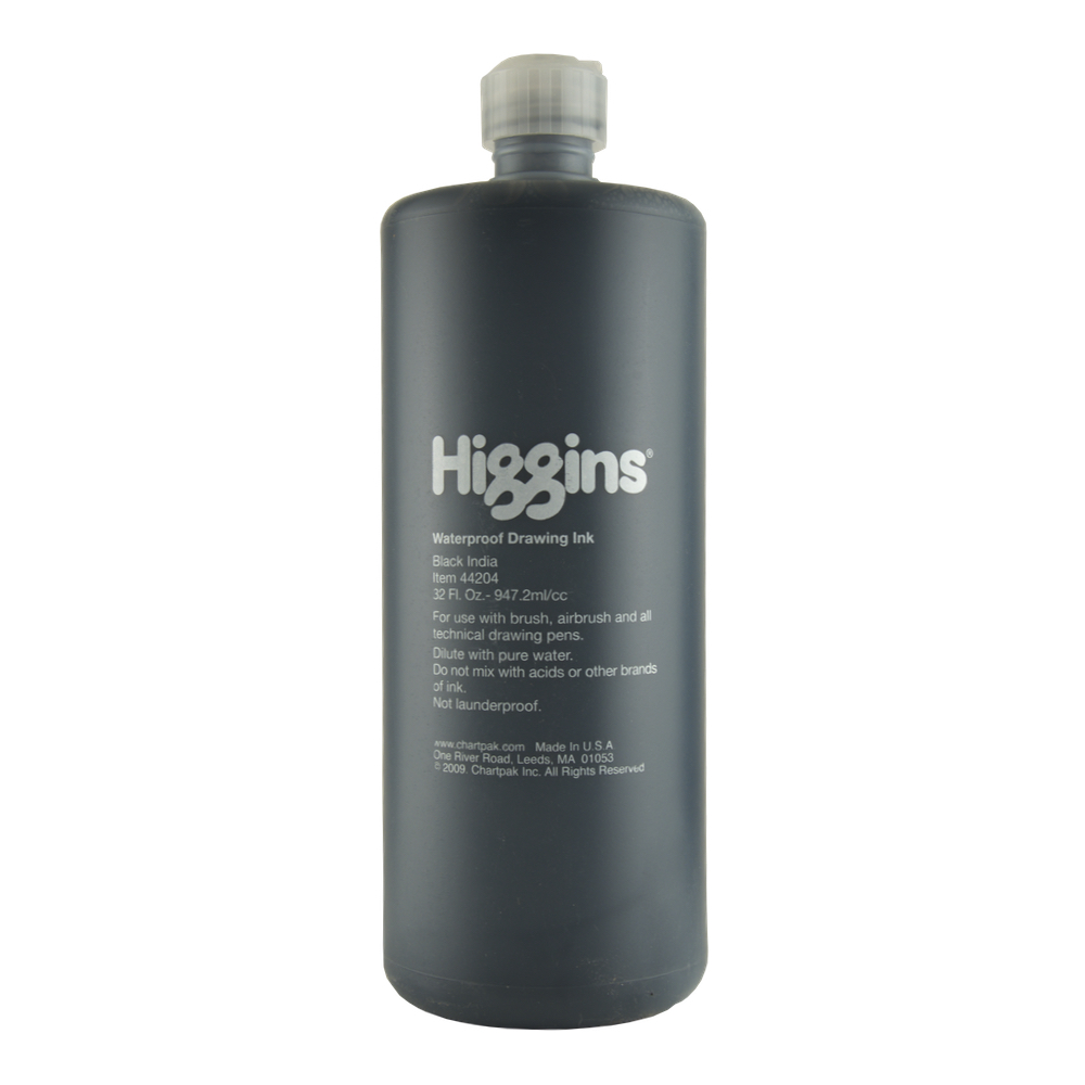 Higgins India Ink 4418 Black 32 Oz