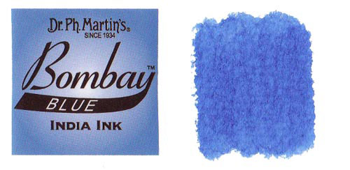 Dr Martins Bombay India Ink 1 Oz Blue