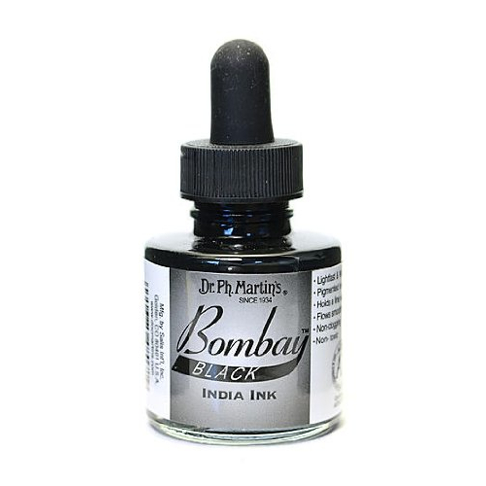 Dr Martins Bombay India Ink 1 Oz Black