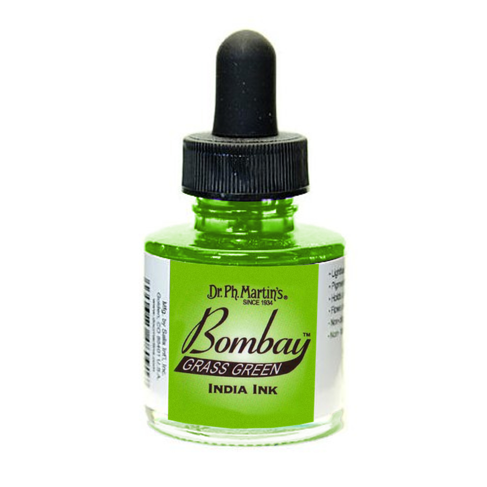 Dr Martins Bombay India Ink 1 Oz Grass Green