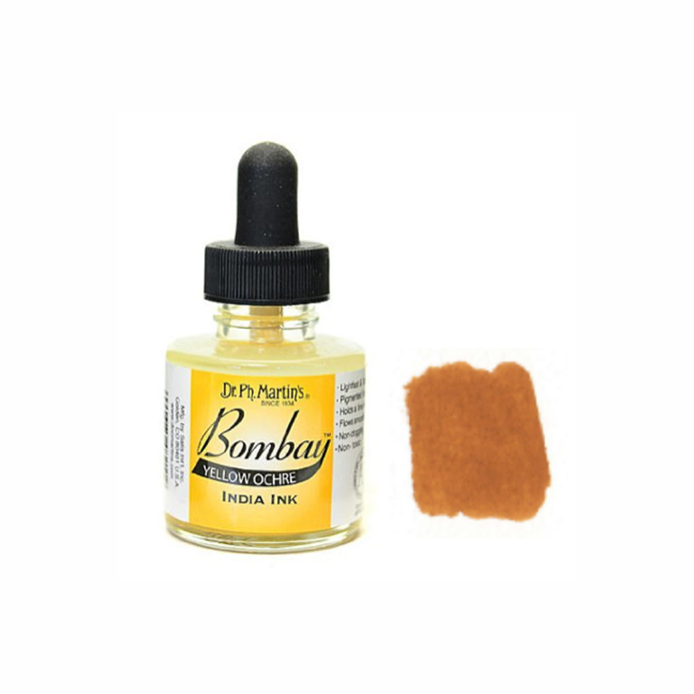 Dr Martins Bombay India Ink 1 Oz Yellow Ochre