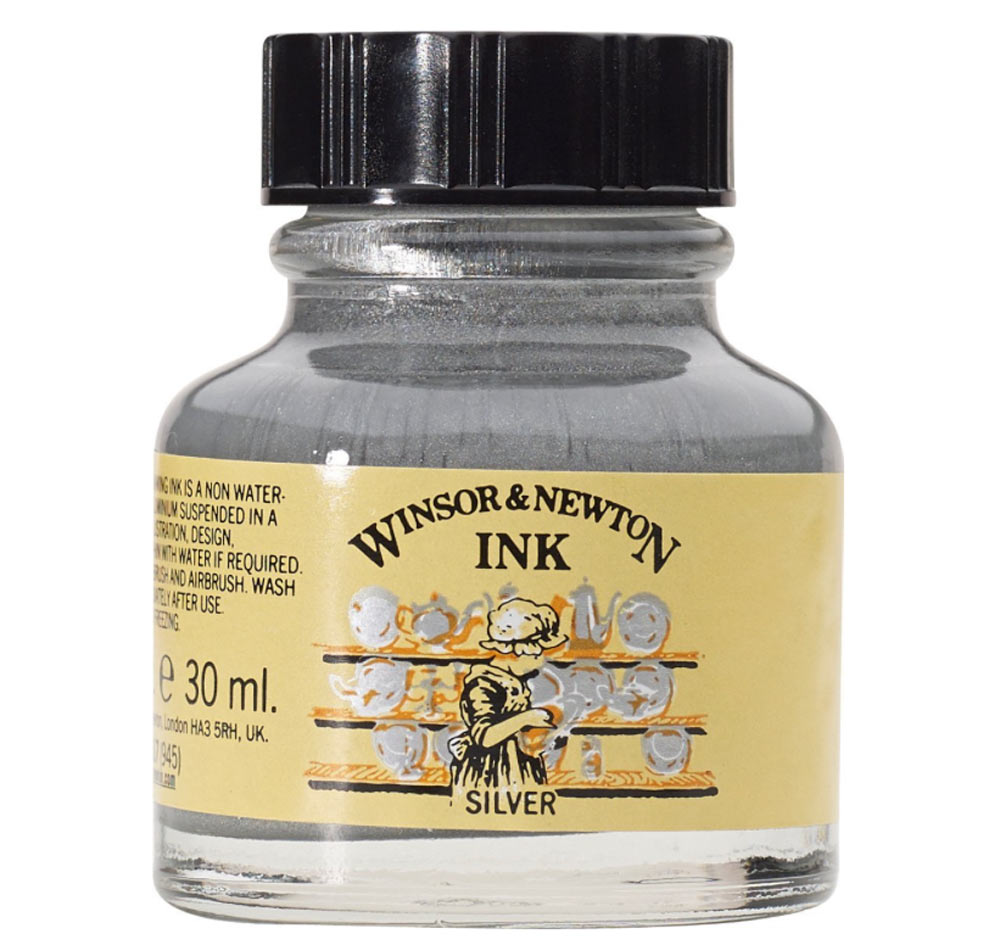 Winsor & Newton Ink 14Ml Silver