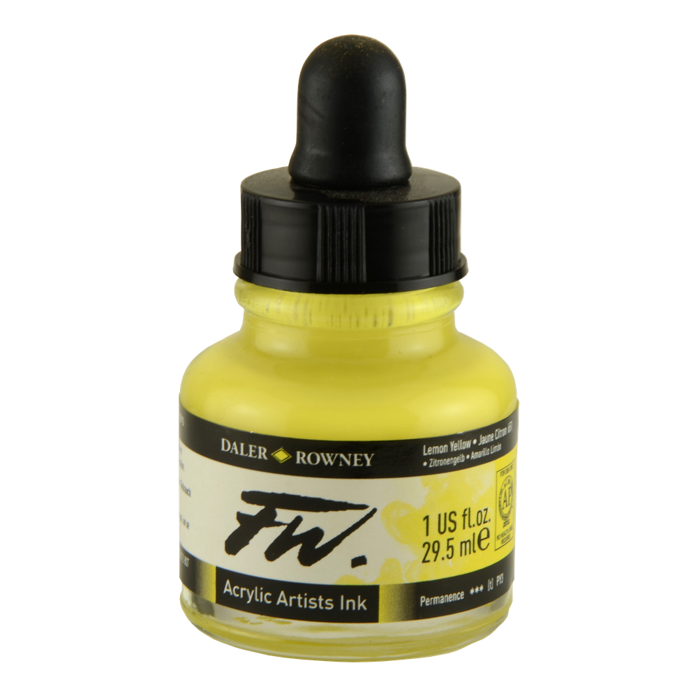 Fw Acrylic Artists Ink 1 Oz Lemon Yellow