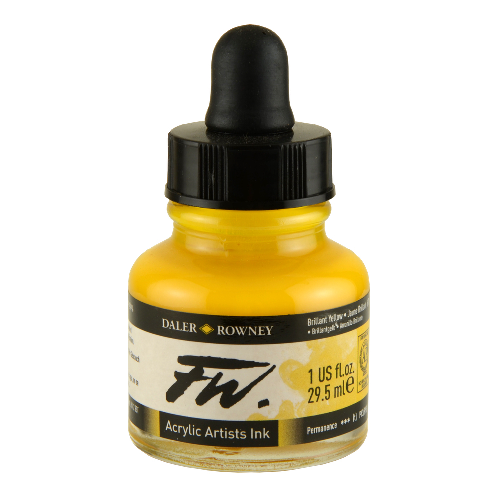 Fw Acrylic Artists Ink 1 Oz Brilliant Yellow