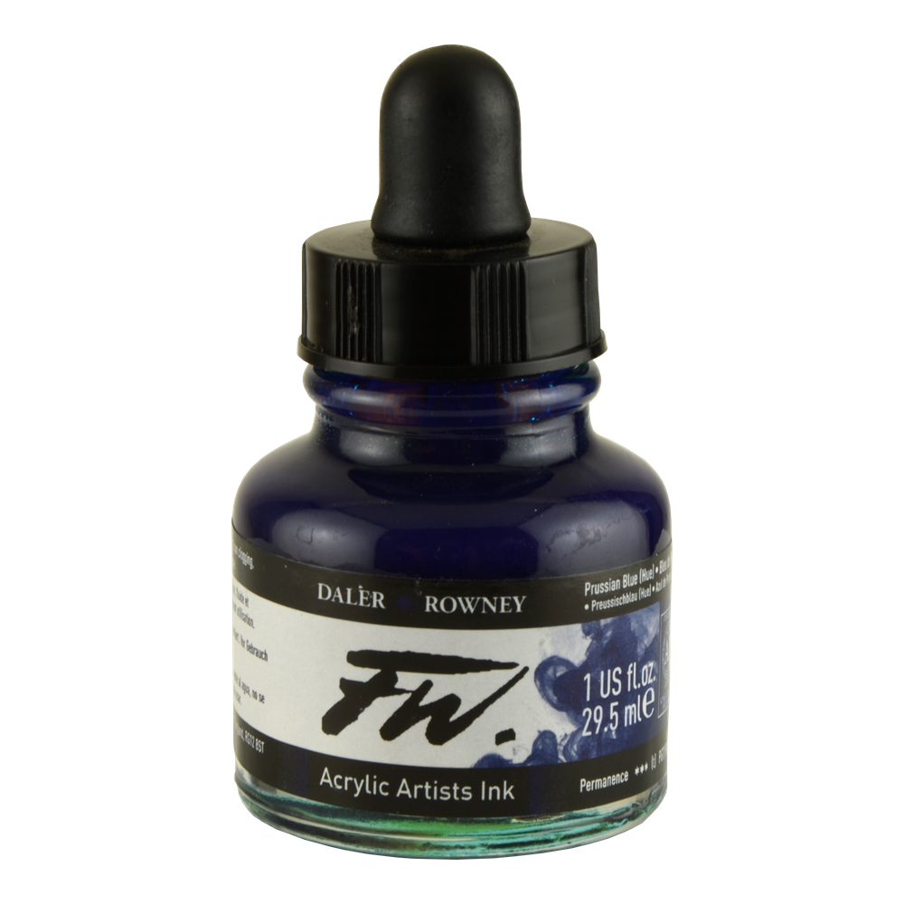 Fw Acrylic Artists Ink 1 Oz Prussian Blue
