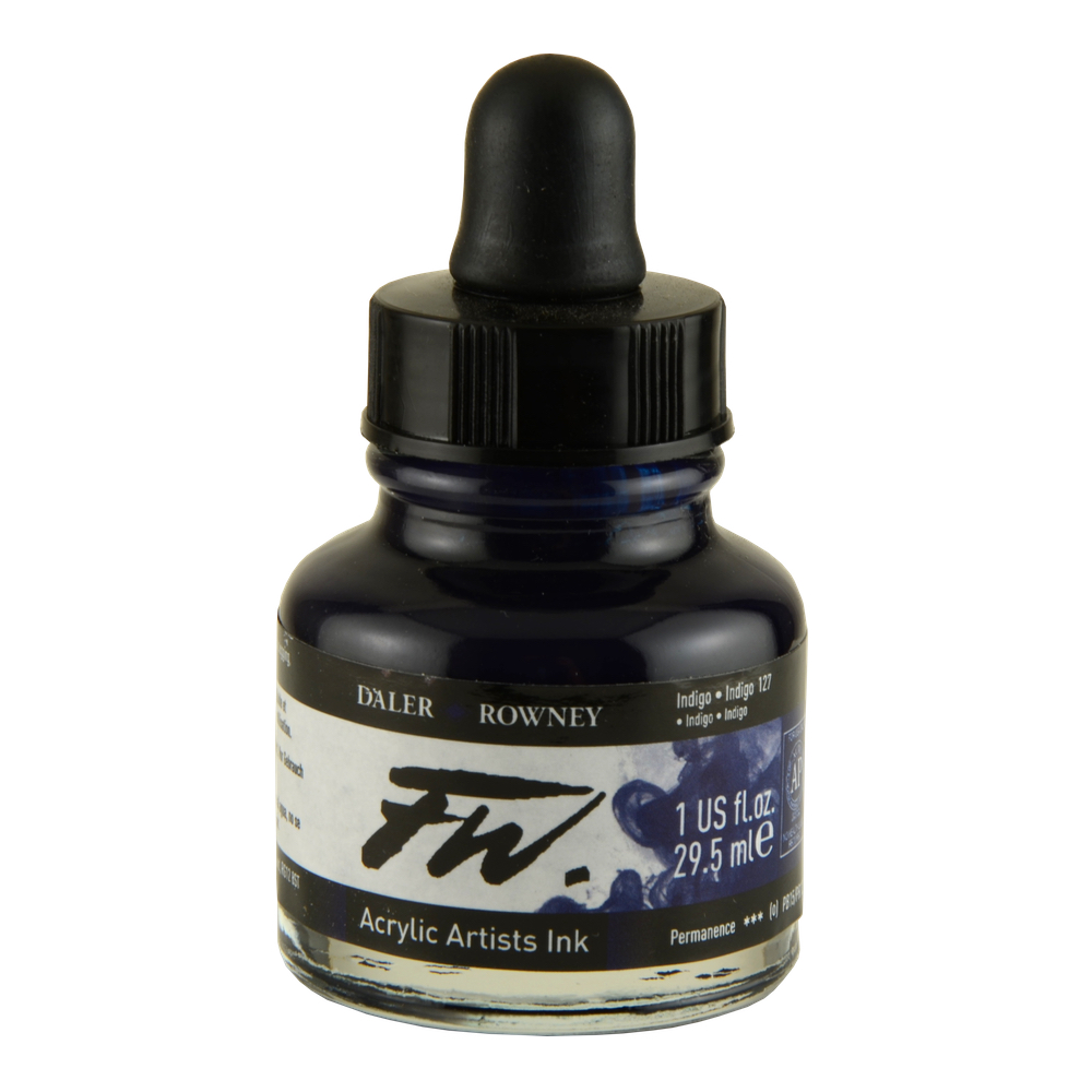 Fw Acrylic Artists Ink 1 Oz Indigo