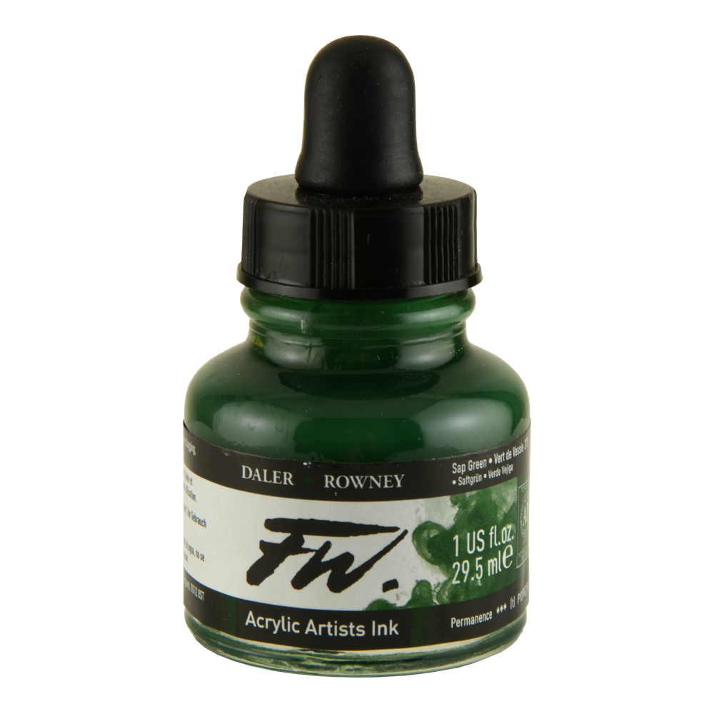 Fw Acrylic Artists Ink 1 Oz Sap Green