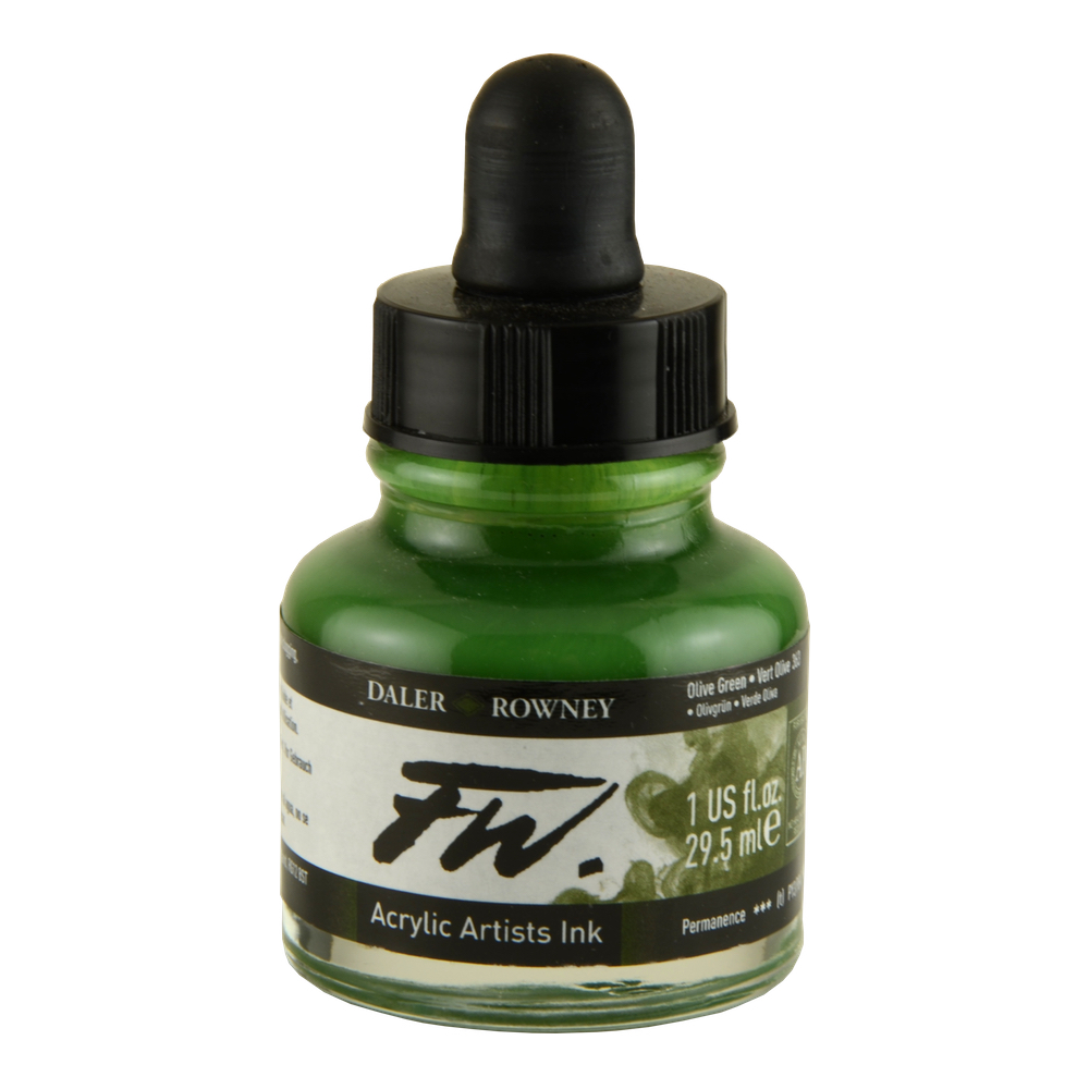 Fw Acrylic Artists Ink 1 Oz Olive Green