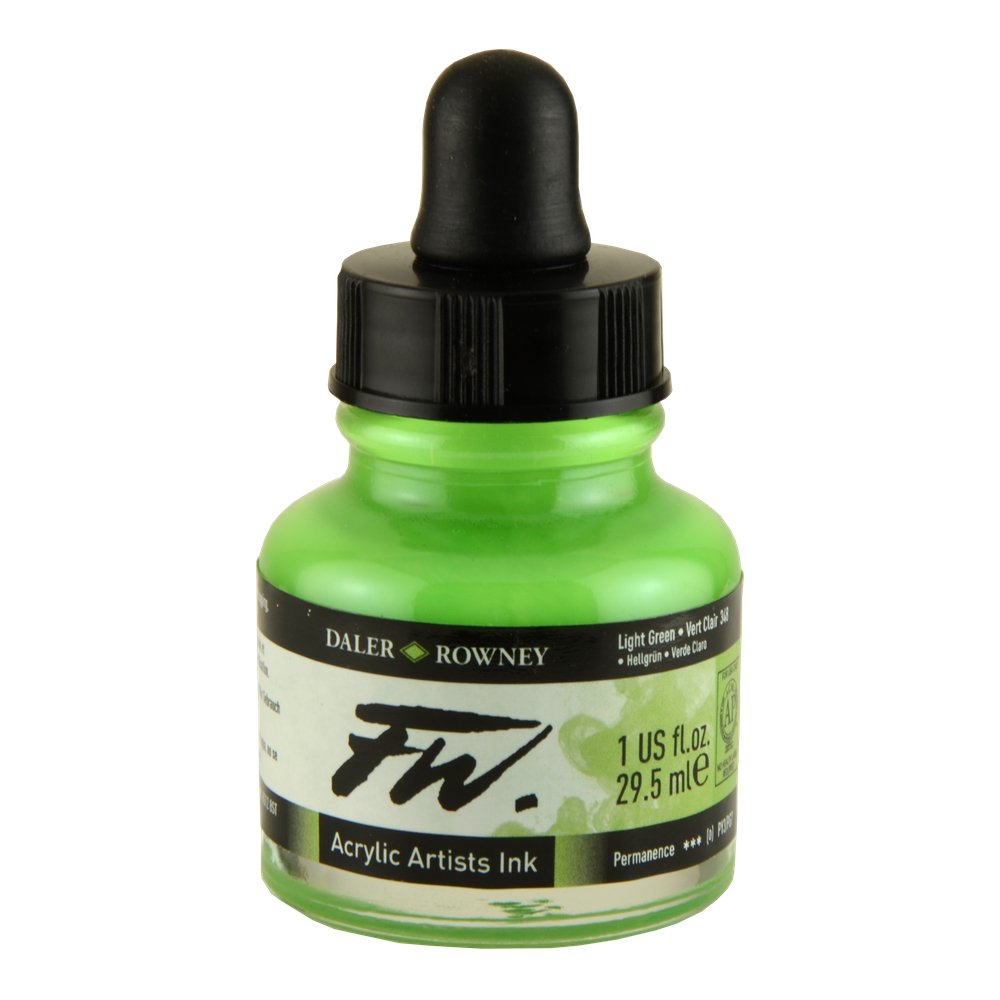 Fw Acrylic Artists Ink 1 Oz Light Green