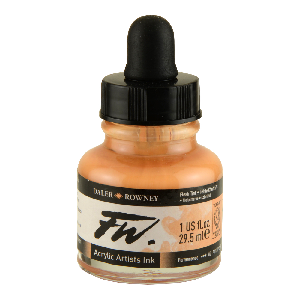Fw Acrylic Artists Ink 1 Oz Flesh Tint
