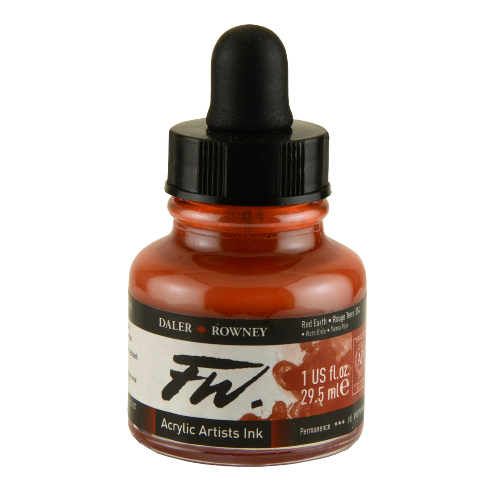 Fw Acrylic Artists Ink 1 Oz Red Earth