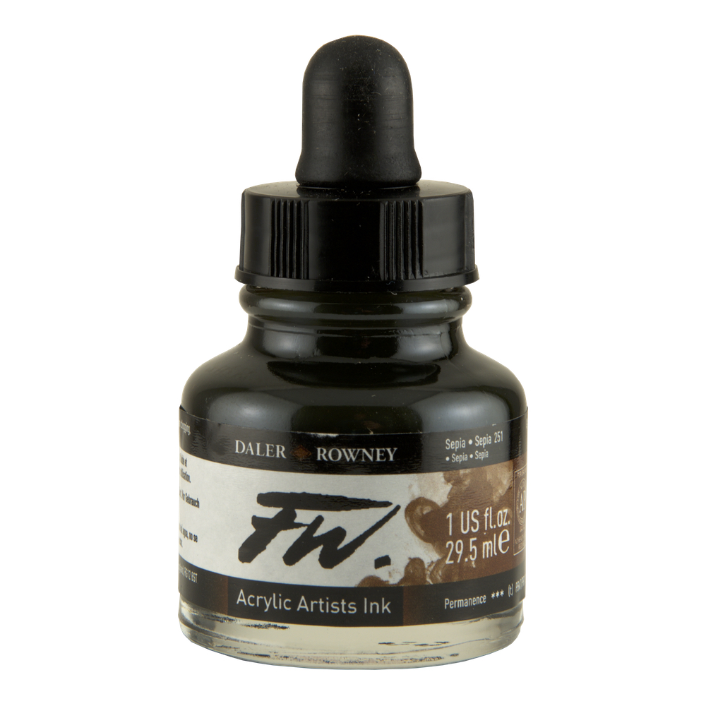Fw Acrylic Artists Ink 1 Oz Sepia