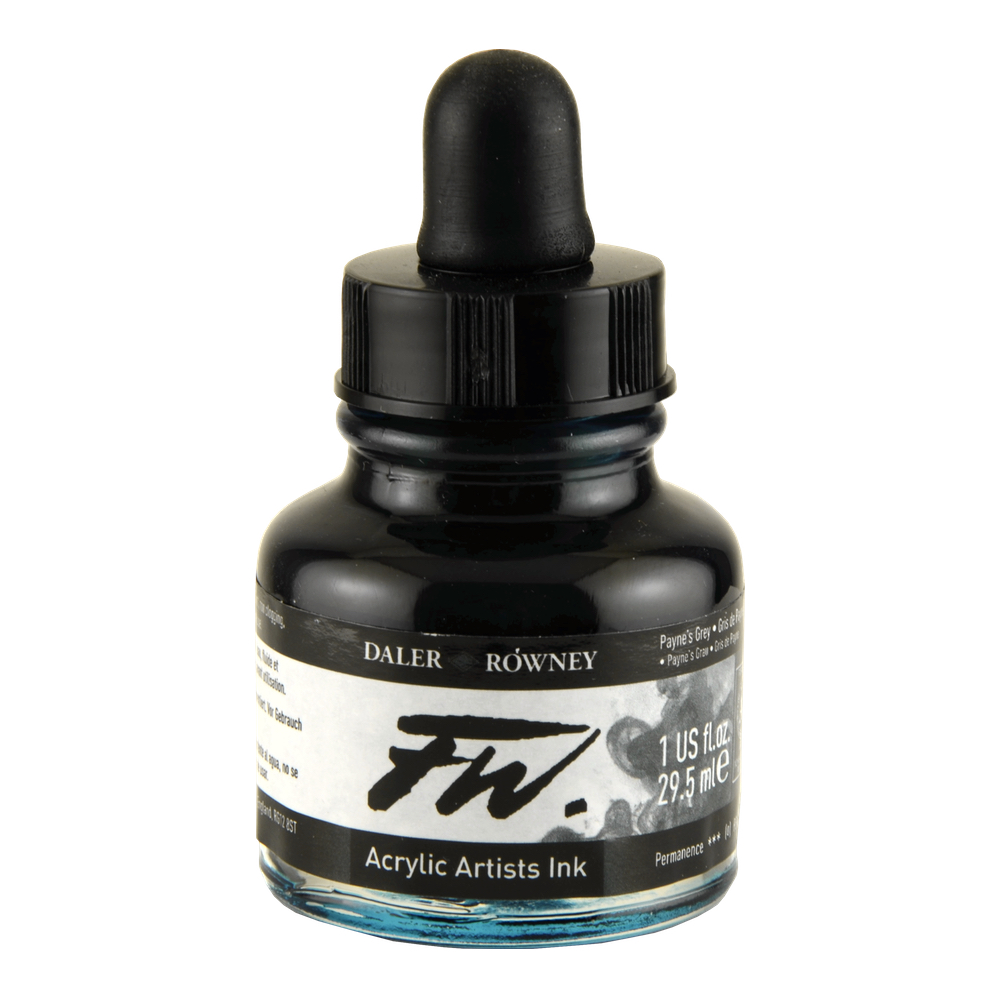 Fw Acrylic Artists Ink 1 Oz Paynes Gray