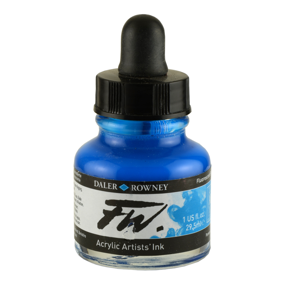 Fw Fluorescent Acryl Ink 1 Oz Blue