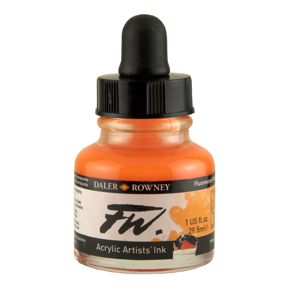 Fw Fluorescent Acryl Ink 1 Oz Orange
