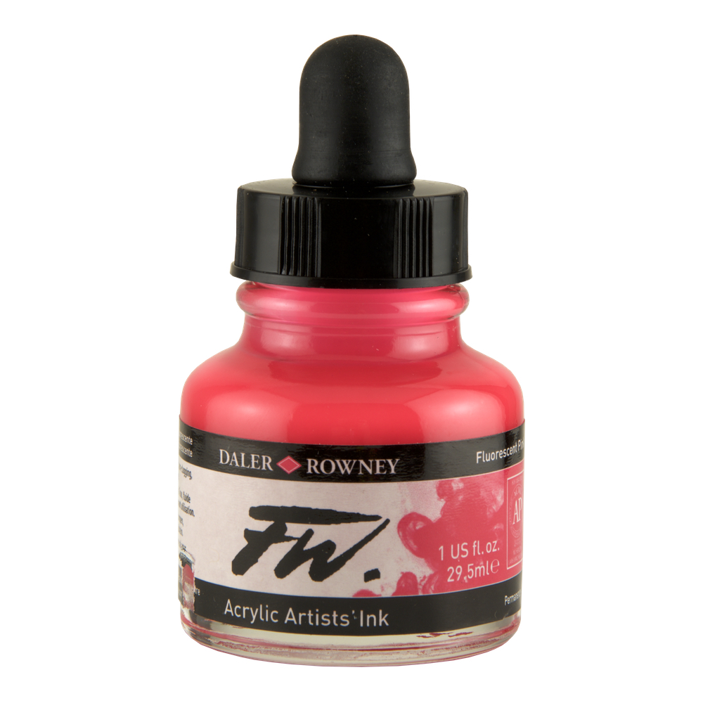 Fw Fluorescent Acryl Ink 1 Oz Pink