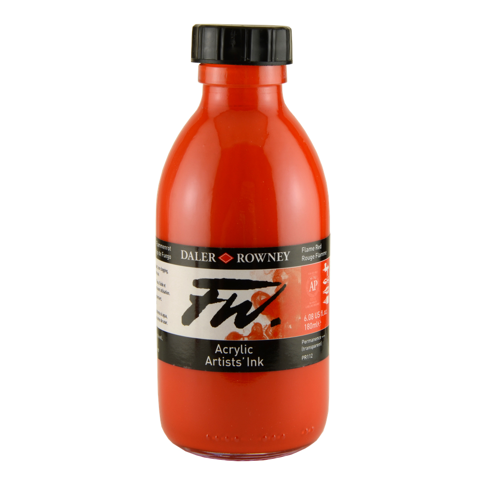Fw Acrylic Artists Ink 6 Oz Flame Red