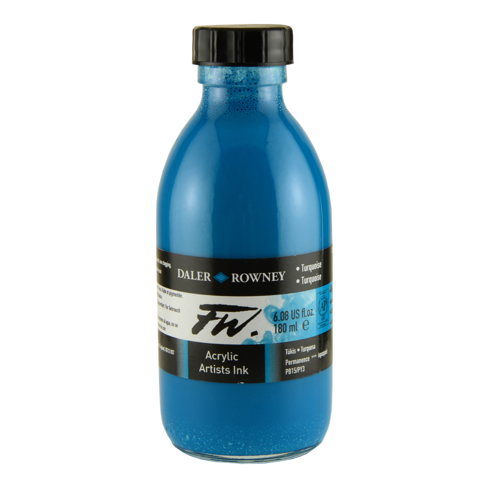 Fw Acrylic Artists Ink 6 Oz Turquoise