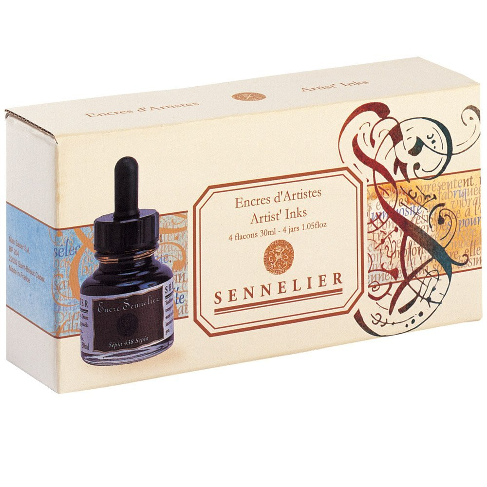 Sennelieir Artists Ink Set Of 4 Colors