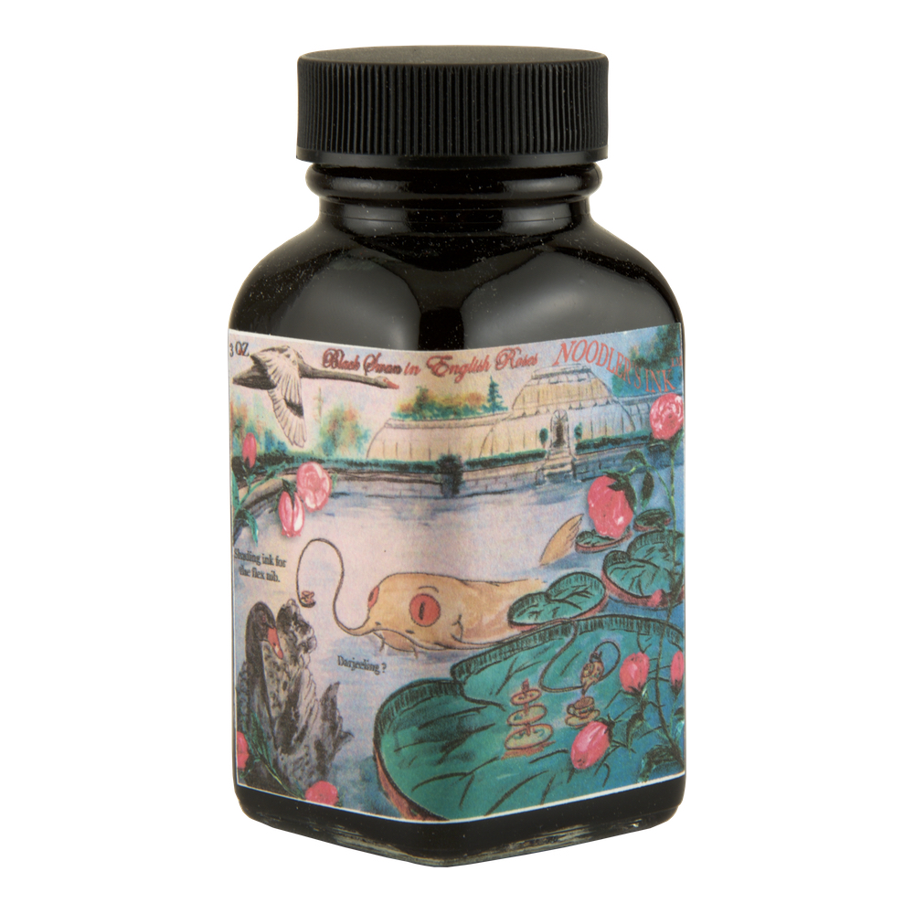 Noodlers Ink 3 Oz Black Swan In English Roses