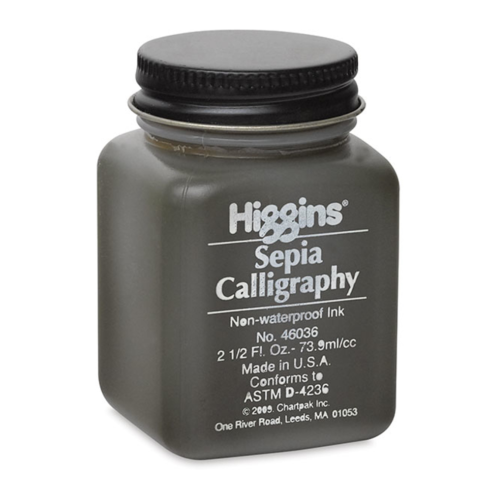 Higgins Sepia Calligraphy Ink 2.5 Oz