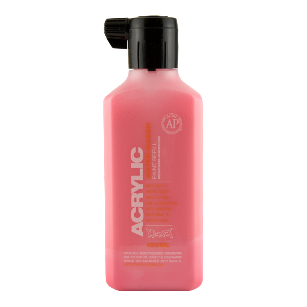 Montana Acrylic Pt Refill 180Ml Gleaming Pink