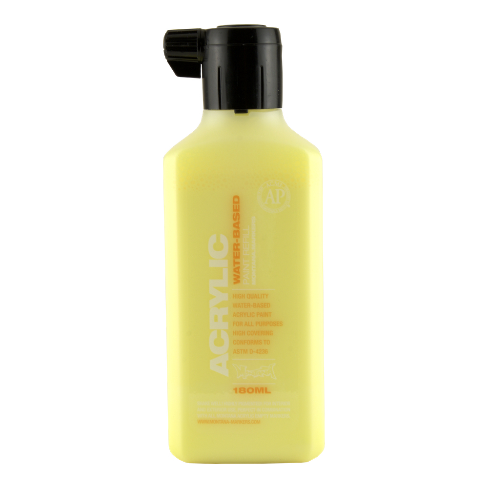 Montana Acryl Paint Refill 180Ml Flash Yellow