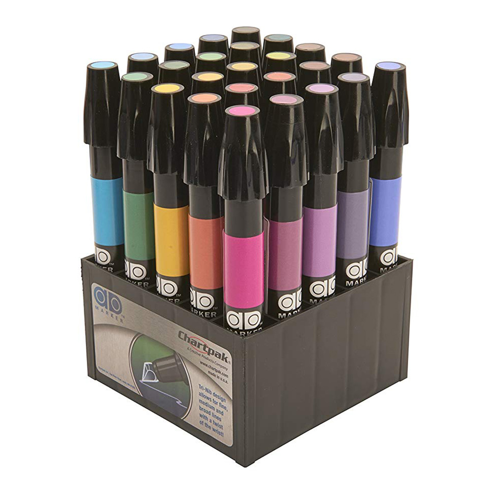 Chartpak Admarker Set A 25 Basic Colors