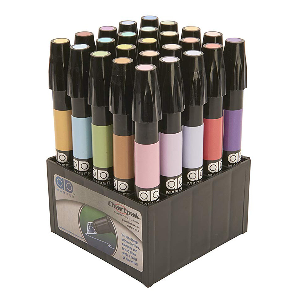 Chartpak Admarker Set F 25 Pastel Colors